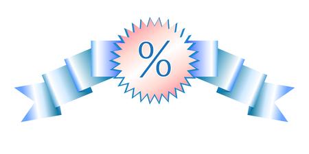 Sale realistic gradient banner Illustration