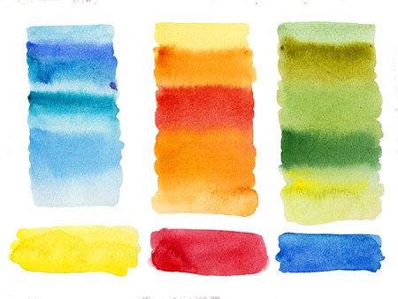 Watercolor abstract shapes columns high resolution cleaned background isolated easy to use Stock Photo