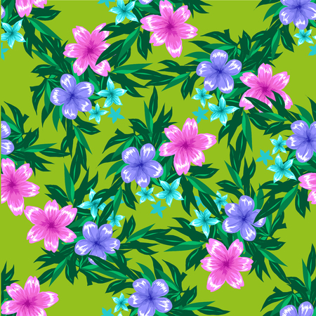 textile image: Abstract Elegance Seamless pattern with floral background.