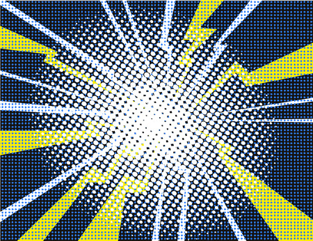 Electric Comic book explosion white yellow purple background vector illustration