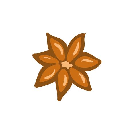 Cinnamon. Isolated icons on white background vector art stock Illustration