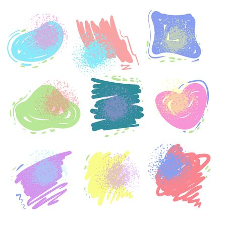 Set of various colorful vector shapes. Abstract vector banners. Design elements.
