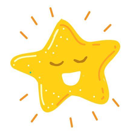 Shiny little happy star smiling vector illustration Ilustrace