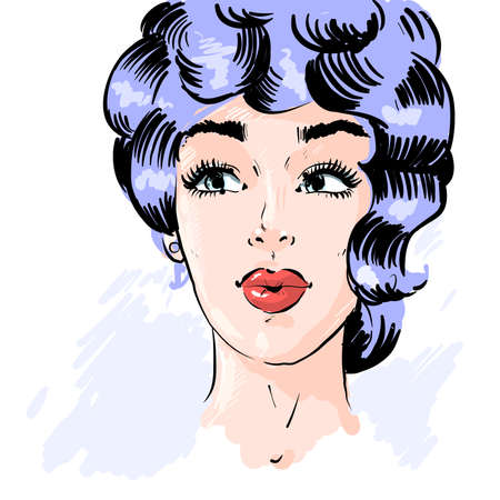 Beautiful pin up surprised woman in the pop art comics style. Vector EPS10 illustration. Ilustrace