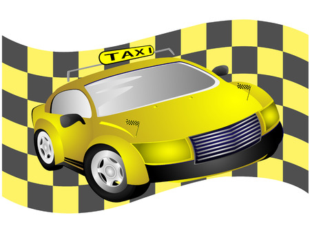 cowl: Taxi the car against flag made from yellow and black cguares