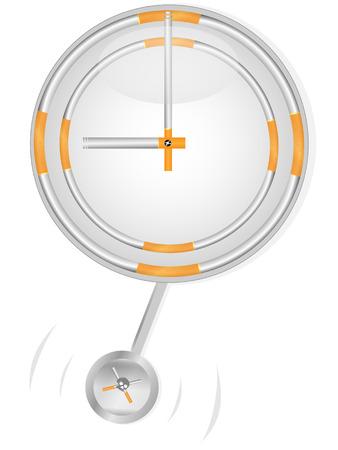 reloj de pendulo: Reloj de p�ndulo de cigarrillos sobre fondo puro  Vectores