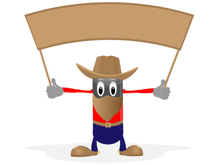 Cowboy ahd header on pure background Vector
