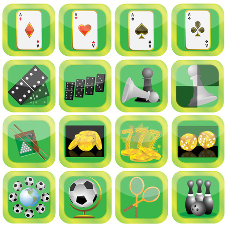 Collection of icons on a theme sports and entertainments Vector