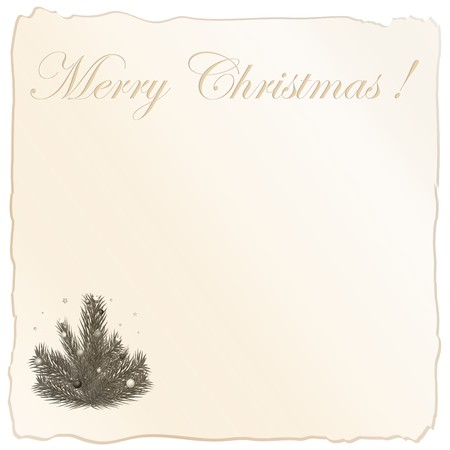 congratulatory: Congratulatory inscription and Christmas tree the papers located on a blank leaf Illustration
