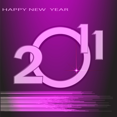 Date of New Year made from figures in unusual execution on violet background photo