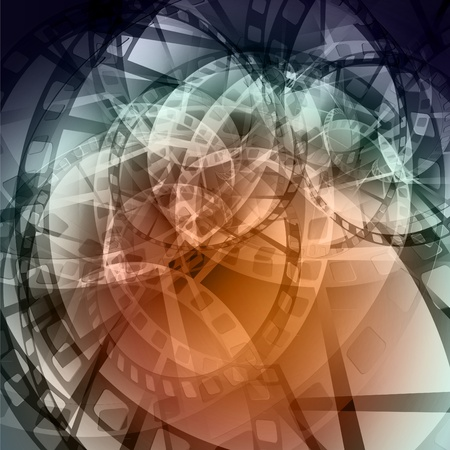 Abstract background executed from a film twirled in a spiral photo