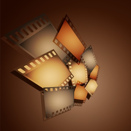 movie set: Collection of photographic shots on a brown background