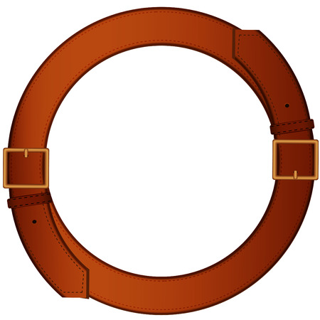 Two belt for trousers made in the form of a ring on a pure background Vector