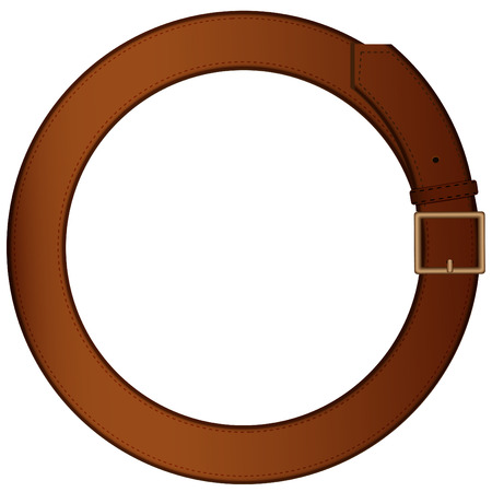 Belt for  trousers made in the form of a ring on a pure background Vector