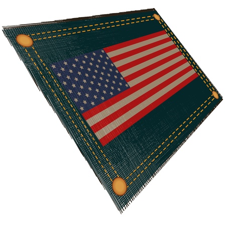 Flag USA located against a jans fabric Stock Photo