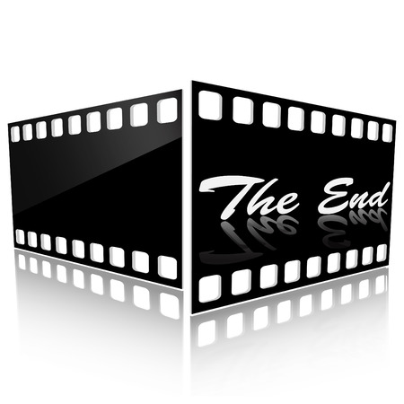 Two films of black color on a pure background Vector