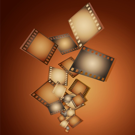 Color film footage on a dark background Stock Vector - 8880020