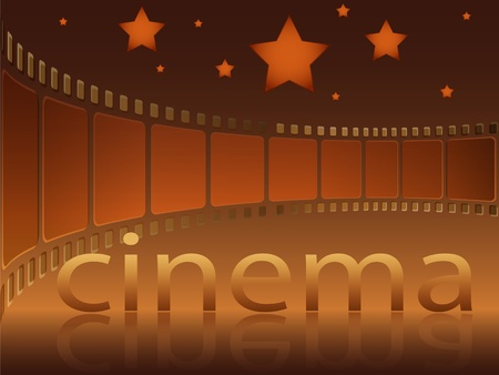 Inscription film and stars on a dark background Vector