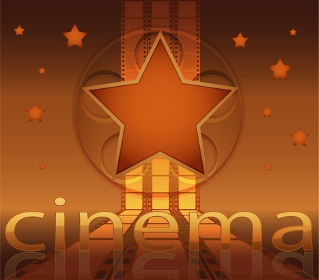 Abstract background made of film and stars Illustration