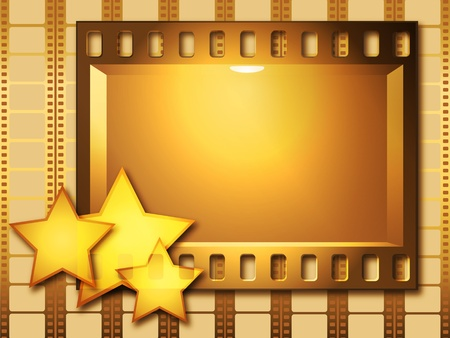 cadre:  Stars and publicity board against a film