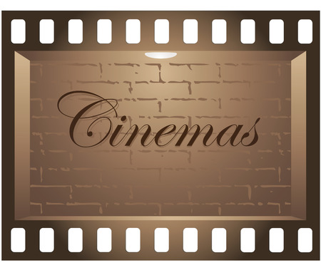 Board in the form of film on a pure background