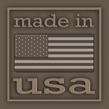 gemaakt: De Amerikaanse symboliek en de inscriptie op de metalen plaat