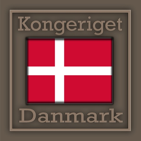 Symbols of Denmark is located on a steel plate pressed