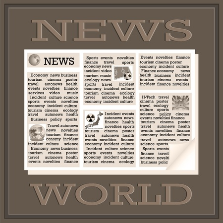 international news: Newspaper icon of the international news
