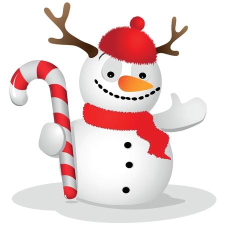 ridiculous: Ridiculous snowman Illustration
