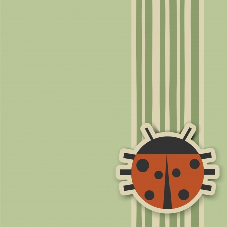 Ladybird on a green background