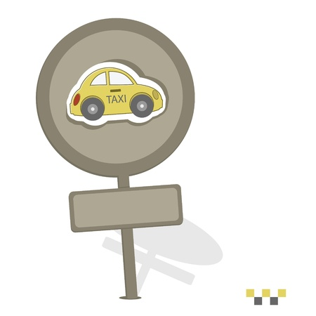 Its ground taxi sign on a white background