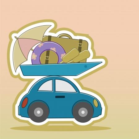 things designed for marine recreation loaded on passenger car