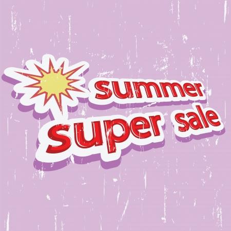 banner summer super sale