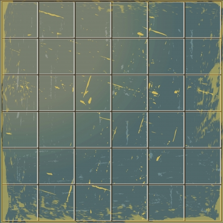 abstract background made up of old dirty tile Stock Photo
