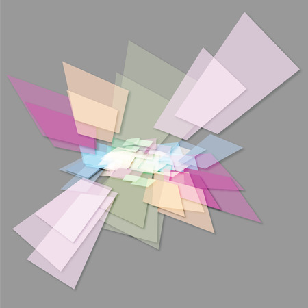 abstract geometric shapes on a gray background Stock Photo
