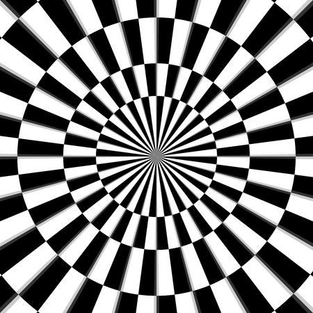 illusion optique fond noir et blanc vecteur