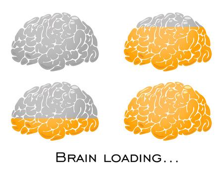 Cerebro dorado, mente inteligente ilustración gráfica, vector Ilustración de vector