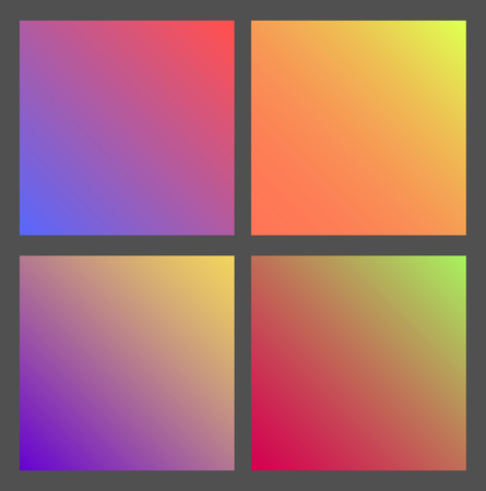 Set of Gradient futuristic square, vector illustration Çizim