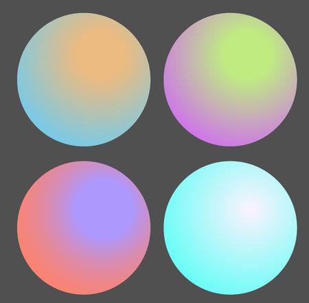 Set of Gradient futuristic circles, vector design