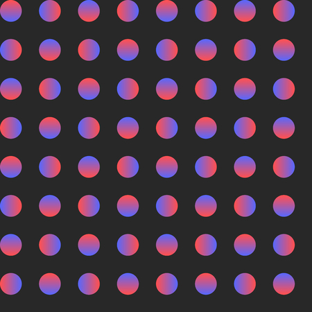 Seamless circle pattern, gradient minimal art, vector Çizim