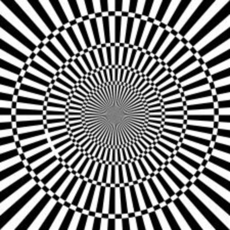 Optical illusion, black and white design, vector