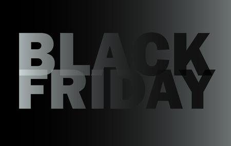 Black friday banner, sale flyer, promo sign vector