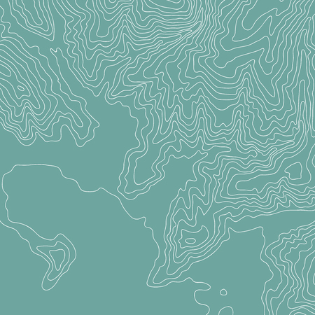 Topographic map, color and fun lines vector Çizim