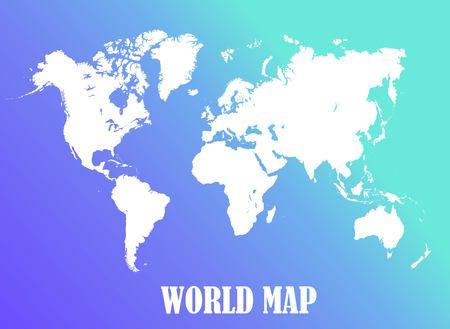 Mapa świata, wszystkie kraje, biały kolor wektor