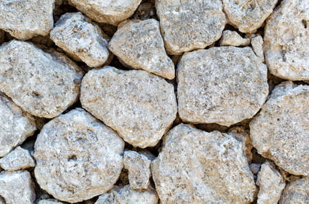 Background of large light brown stones