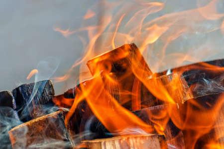 Burning flame close up Reklamní fotografie