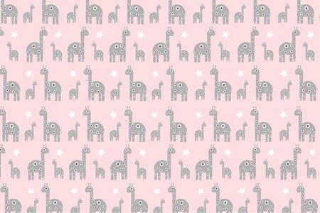 Baby giraffe seamless pattern background