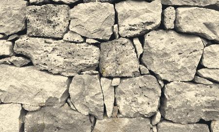Vektorspur der Steinmauer. Textur Hintergrund Vektorgrafik