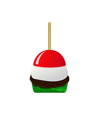 Icon of canape food flat design. Buffet, restaurant food, snack, vector illustration. mozzarella tomato zucchini cutlet. Outdoor events and restaurant waiter premium service. on white background. As template for menu, flyer. 일러스트