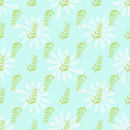 Seamless pattern with green leaves. Nature concept. Background for your design wallpapers, web page, surface textures, package product of tea, scrapbooking, clothes, fabric textile. Vector